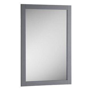 "Fresca Manchester 20"" Gray Traditional Bathroom Mirror, 20"" W x 1"" D x 30"" H"