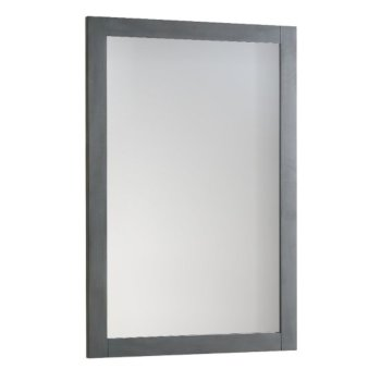 "Fresca Manchester Regal 20"" Gray Wood Veneer Traditional Bathroom Mirror, 20"" W x 1"" D x 30"" H"