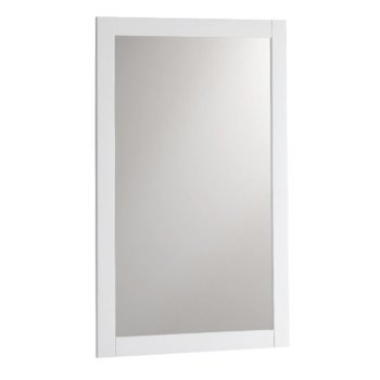 "Fresca Manchester 20"" White Traditional Bathroom Mirror, 20"" W x 1"" D x 30"" H"