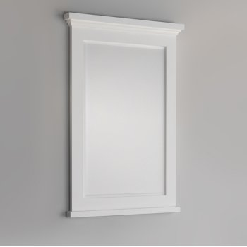 "Fresca Windsor 24"" Matte White Bathroom Mirror, 24""W x 1-4/5"" D x 34-4/5"" H"