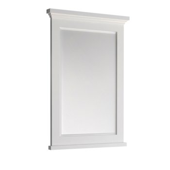 "Windsor 24"" Matte White Mirror Product View"