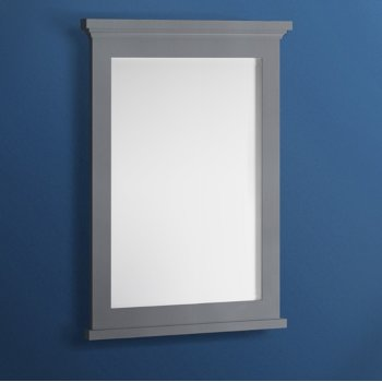 "Fresca Windsor 27"" Gray Textured Bathroom Mirror, 27""W x 1-4/5"" D x 34-4/5"" H"