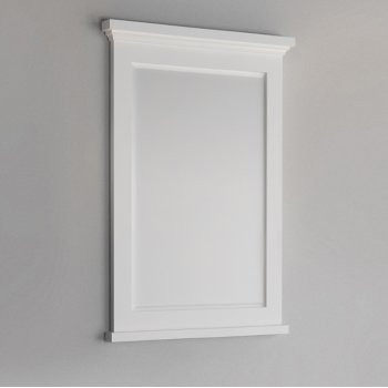 "Fresca Windsor 27"" Matte White Bathroom Mirror, 27""W x 1-4/5"" D x 34-4/5"" H"