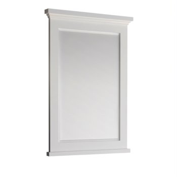 "Windsor 27"" Matte White Mirror Product View"