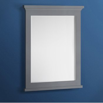 "Fresca Windsor 30"" Gray Textured Bathroom Mirror, 30""W x 1-4/5"" D x 34-4/5"" H"