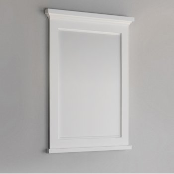 "Fresca Windsor 30"" Matte White Bathroom Mirror, 30""W x 1-4/5"" D x 34-4/5"" H"