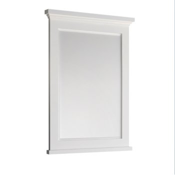 "Windsor 30"" Matte White Mirror Product View"