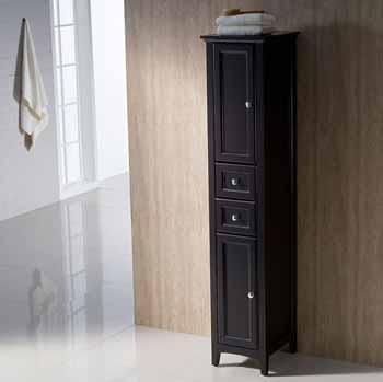 Espresso Tall Linen Cabinet