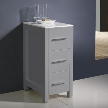 Gray Freestanding Linen Side Cabinet