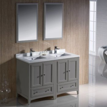 Oxford 48 Traditional Double Sink Bathroom Vanity Set By Fresca Kitchensource Com