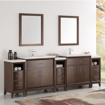 Double Sink Traditional Bathroom Vanity