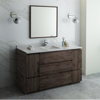 Formosa 48 54 Or 60 Wide Floor Standing Modern Bathroom Vanity Set W Mirror By Fresca Kitchensource Com