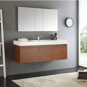 SpaceSaving WallMounted Bathroom Vanities KitchenSourcecom - Wall mount vanities for bathrooms