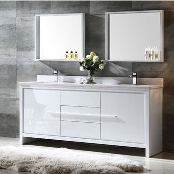 double bath vanities for the master bath, guest bathroom or kids