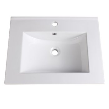 "Fresca Allier 24"" White Integrated Sink / Countertop, 24"" W x 18-1/4"" D x 5/8"" H"