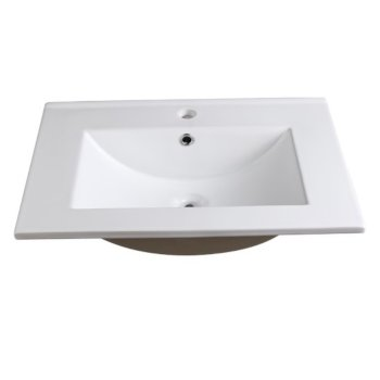 "Allier 24"" White Overhead View"