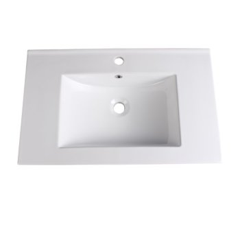 "Fresca Allier 30"" White Integrated Sink / Countertop, 30"" W x 18-1/4"" D x 5/8"" H"