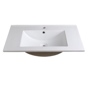 "Allier 30"" White Overhead View"
