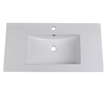 "Fresca Allier 36"" White Integrated Sink / Countertop, 36"" W x 18-1/4"" D x 5-1/4"" H"
