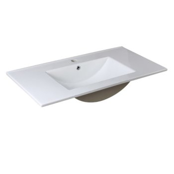 "Allier 36"" White Angle View"