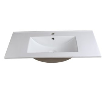 "Allier 36"" White Overhead View"