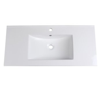 "Allier 40"" White Overhead View"