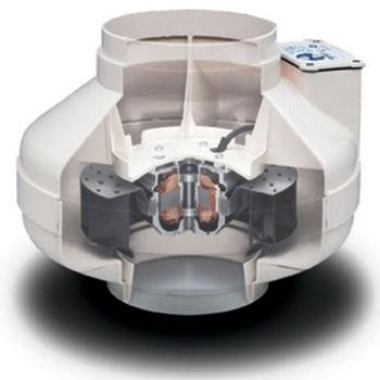 "Fantech 4"" - 6"" Inline Centrifugal Duct Fan Molded Housing 122 - 299 CFM"