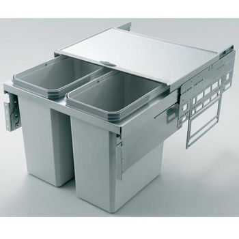 Fulterer Eco-Liner Easy Close Waste Basket Pull-Out