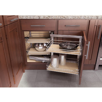Great Vauth Sagel Wari Corner Base Cabinet U0026 Blind Corner Swing Out And Slide  System, 800mm Scalea Maple, Right