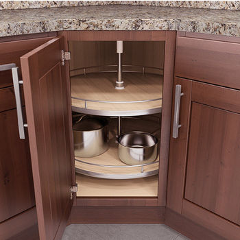 Vauth Sagel Lazy Susan Corner Base U0026 Wall Cabinet Set W/ Maple Baskets, 460  Mm