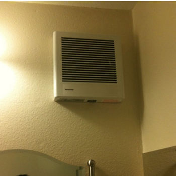 Panasonic 70 CFM Whisper wall mounted bathroom fan