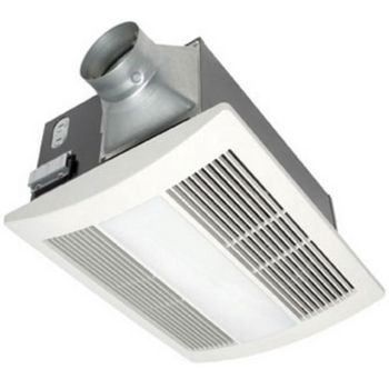 Panasonic 110 CFM Whisper Warm Bathroom Fan with Heater, Light & Nightlight