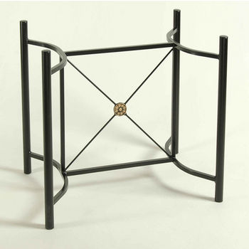 Table Bases Dining Table Bases In Heavy Gauge Steel Or Wrought - Black metal dining table base
