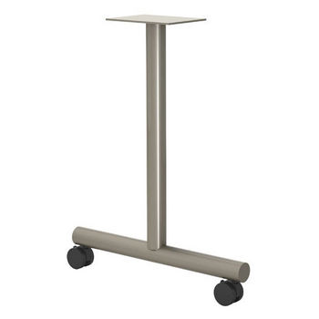 """Gibraltar T-Shaped Table Leg with Casters, 27-3/4"""" H x 16"""" D, 10 lbs"""