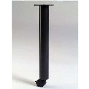 """Gibraltar Support Leg with Caster, 27-3/4"""" H x 1-1/2"""" Dia. 7 lbs"""