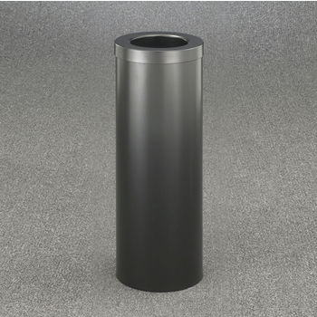 "Glaro Funnel Top 10"" Diameter Waste Receptacle in Satin Black, 10"" Diameter x 29"" H"