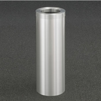 "Glaro Funnel Top 10"" Diameter Waste Receptacle in Satin Aluminum, 10"" Diameter x 29"" H"
