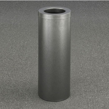 "Glaro Funnel Top 10"" Diameter Waste Receptacle in Silver Vein, 10"" Diameter x 29"" H"