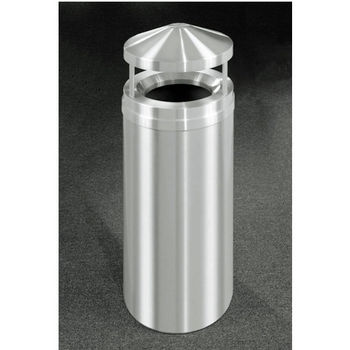 Canopy Top Satin Aluminum Cover Waste Receptacle