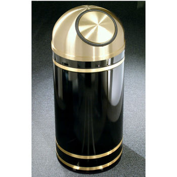 Monte Carlo WasteMaster™ Collection Satin Brass Cover Dome Top Waste Receptacles