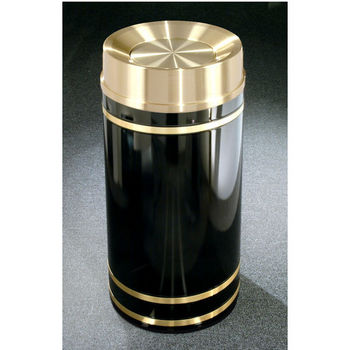 Monte Carlo WasteMaster™ Collection Satin Brass Cover Tip Action Top Waste Receptacle