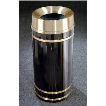 Monte Carlo WasteMaster™ Collection Satin Brass Cover Funnel Top Waste Receptacle