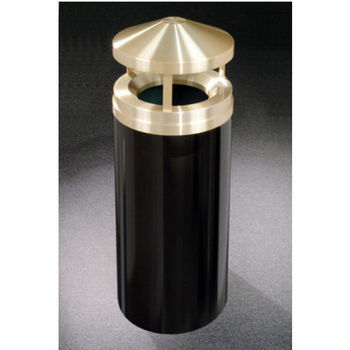 Canopy Top Collection Satin Brass Cover Waste Receptacle