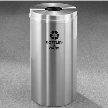 Glaro RecyclePro® Collection 16 Gallon Bottles & Cans Receptacle
