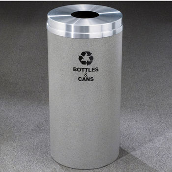 Glaro RecyclePro® Collection 16 Gallon Bottles & Cans Receptacles
