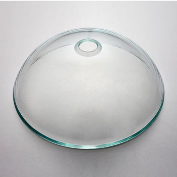 Kraus Crystal Clear Glass Vessel Sink with Pop-Up Drain & Mounting Ring