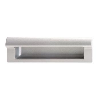 Hafele (6-3/4'' W) Mortise Recessed Handle in Matt Aluminum, 173mm W x 34mm D x 46mm H