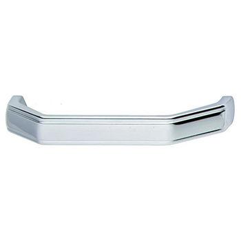 Hafele (4'' W) Handle in Polished Chrome, 104mm W x 25mm D x 13mm H