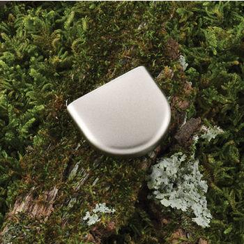 Hafele (1'' W) Finger Pull Handle in Matt Nickel, 26mm W x 24mm D x 7mm H