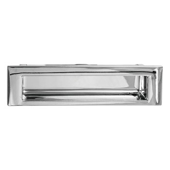 Hafele Inset Pull, Polished Chrome, 174mm W x 15mm D x 46.5mm H, 160mm Center to Center